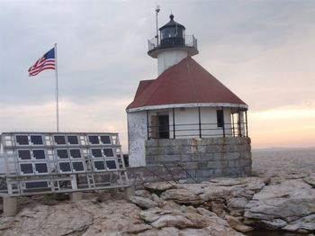 Cuckolds Lighthouse before rescue began. #Maine #Lighthouse