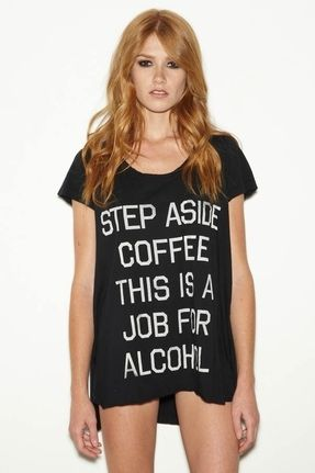 Rebel Yell Step Aside Coffee Pocket Tunic in Black | #Chic ONLY #Glamour ALWAYS