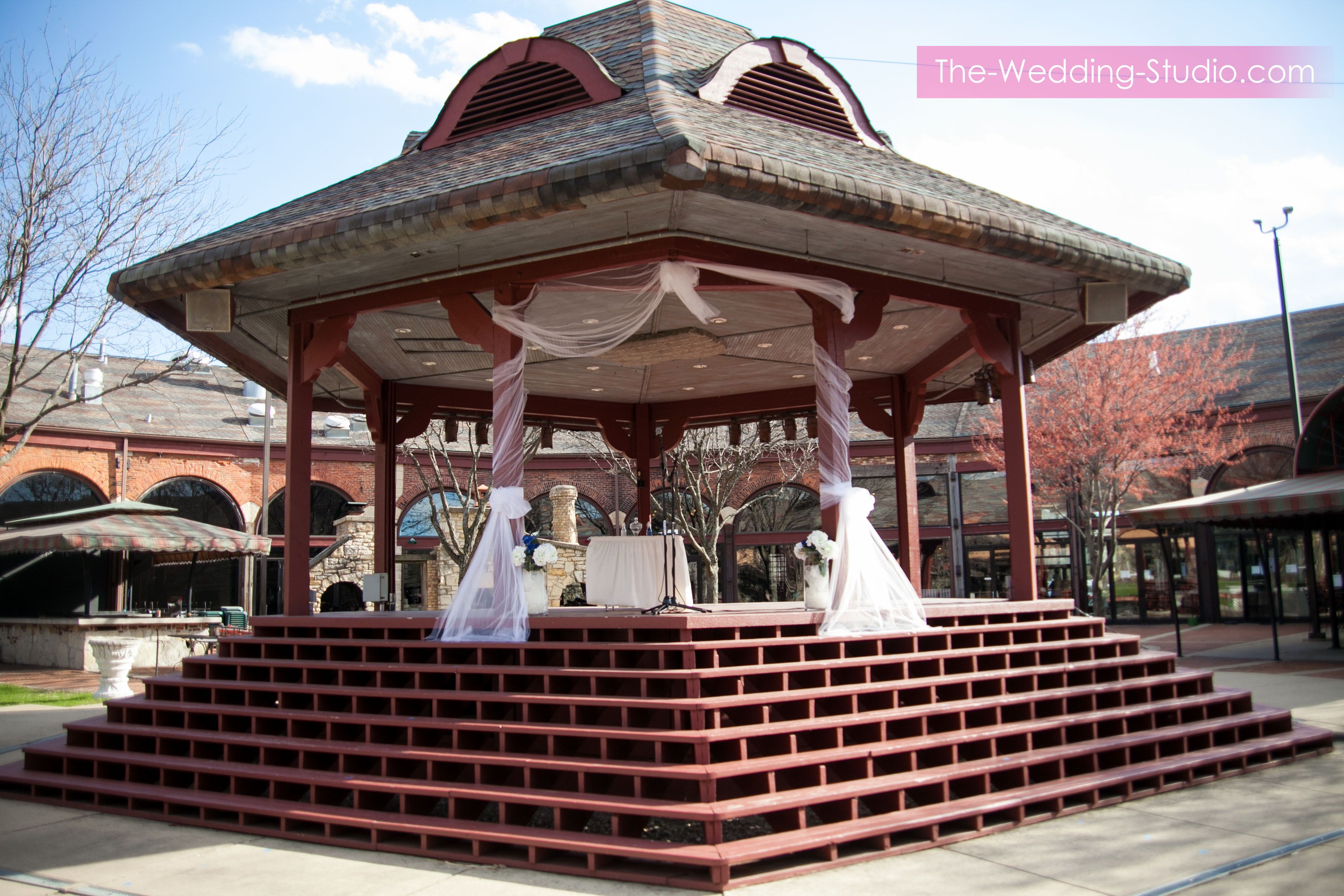Outdoor ceremony site during a Spring Wedding at Two