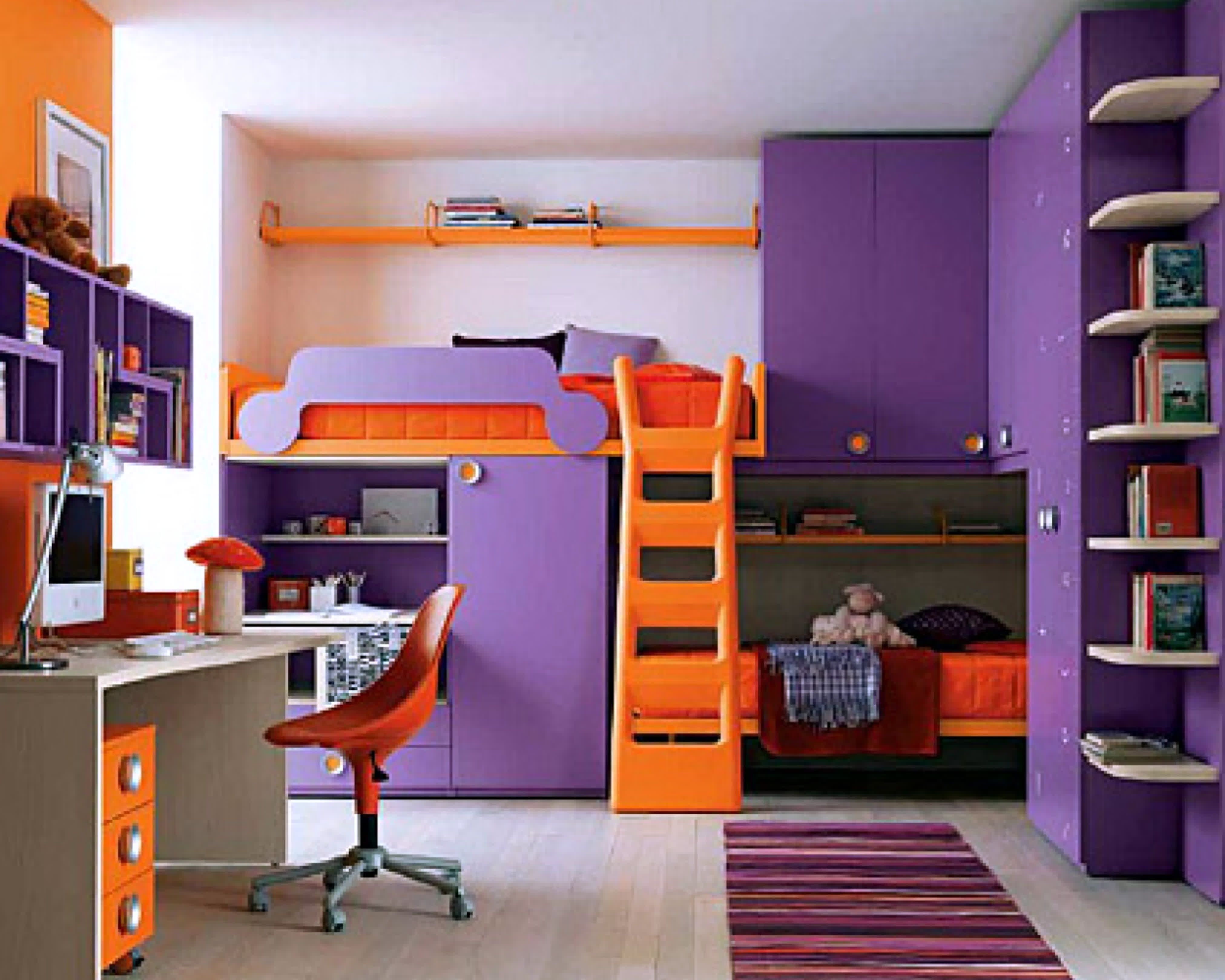 Charming Guides For Buying Bunk Beds With Stairs Teenage Girl Bedroom Ideas .