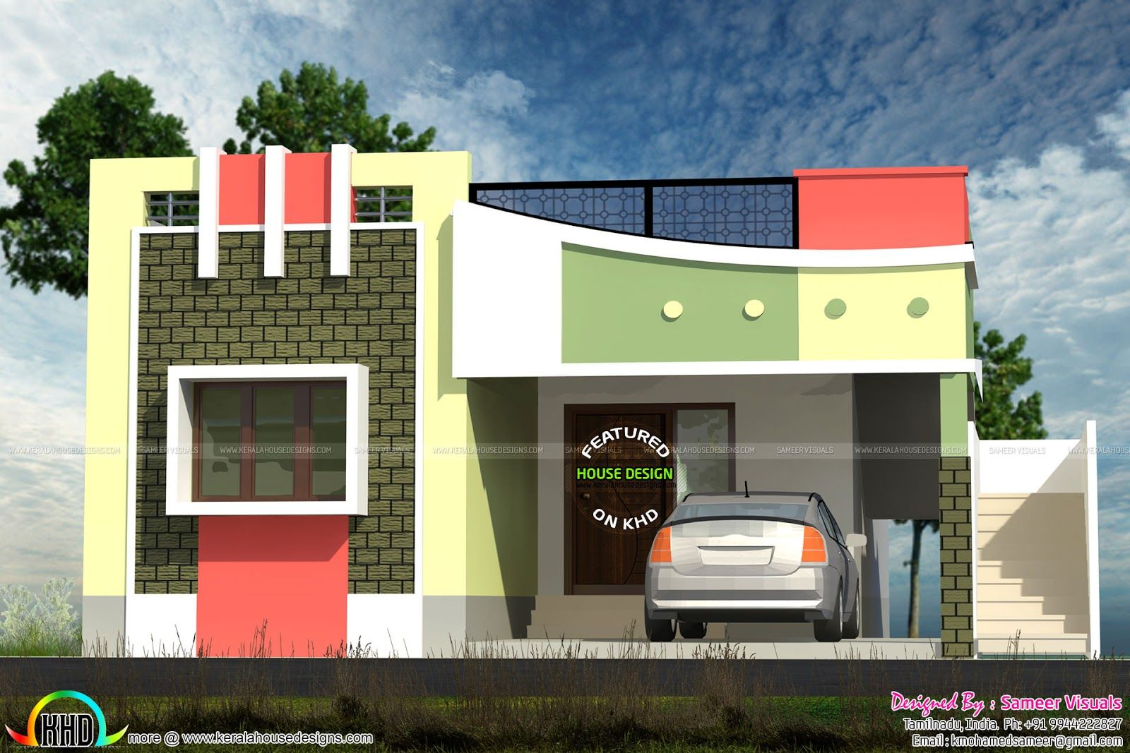 Ordinaire Small Tamilnadu Style Home Design Kerala And Floor Plans House Pinoy Eplans