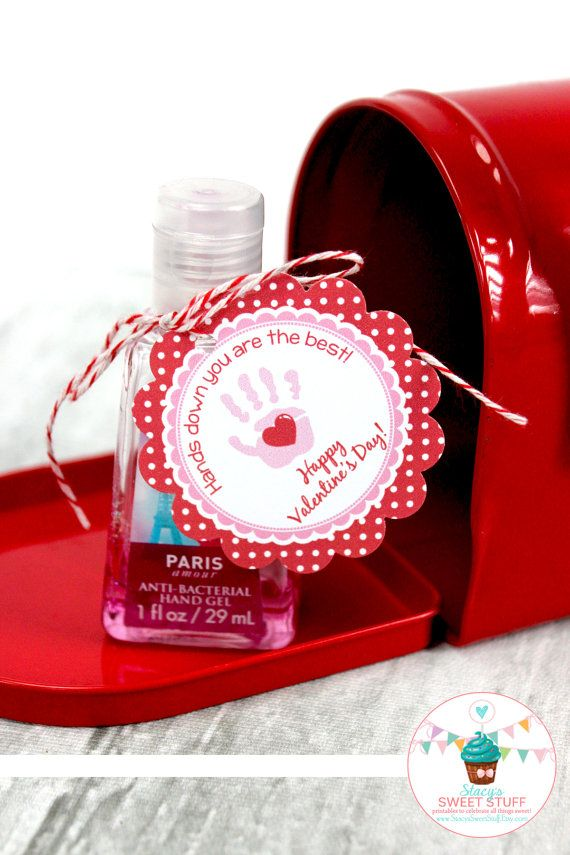 Valentine Hand Sanitizer Tag Diy Printable Instant Download