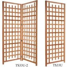 Great free standing trellis with hinges that comes with two panels which can be used together to act as a deck divider or privacy screen while allowing your vines to grow vertically.