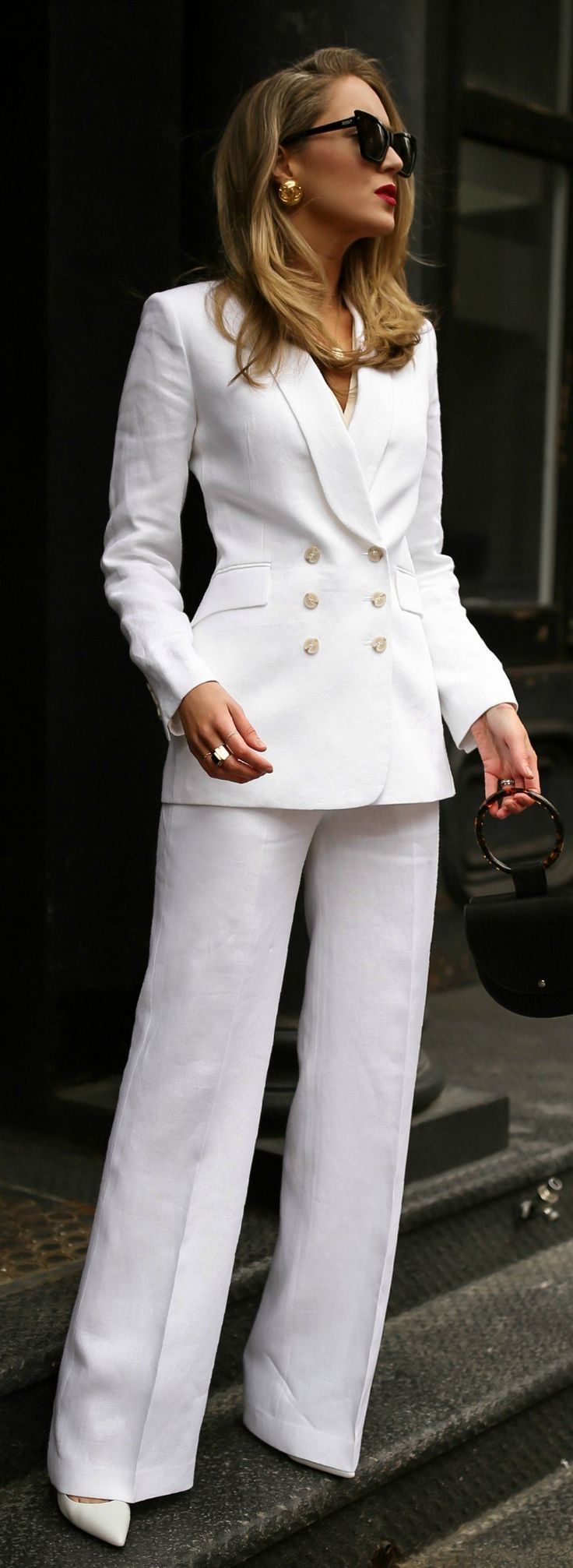 Spring MustHave The White Linen Suit  MEMORANDUM  NYC Fashion  Lifestyle Blog for the Working G Spring musthaves with theorypin  coordinating white linen double breasted...