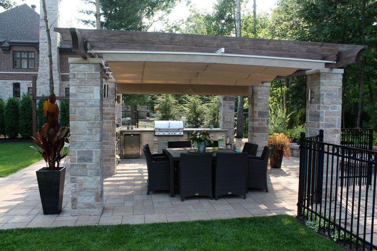 13 Marvelous Outdoor Kitchen Pergola Ideas For Backyard With Images Modern Backyard Backyard Pergola Backyard