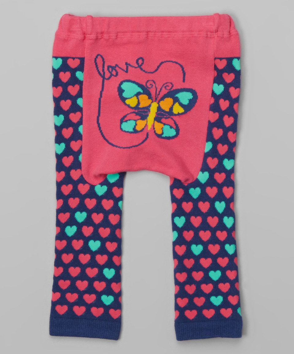 Look what I found on #zulily! Fuchsia & Navy Butterfly Leggings - Infant by Doodle Pants #zulilyfinds