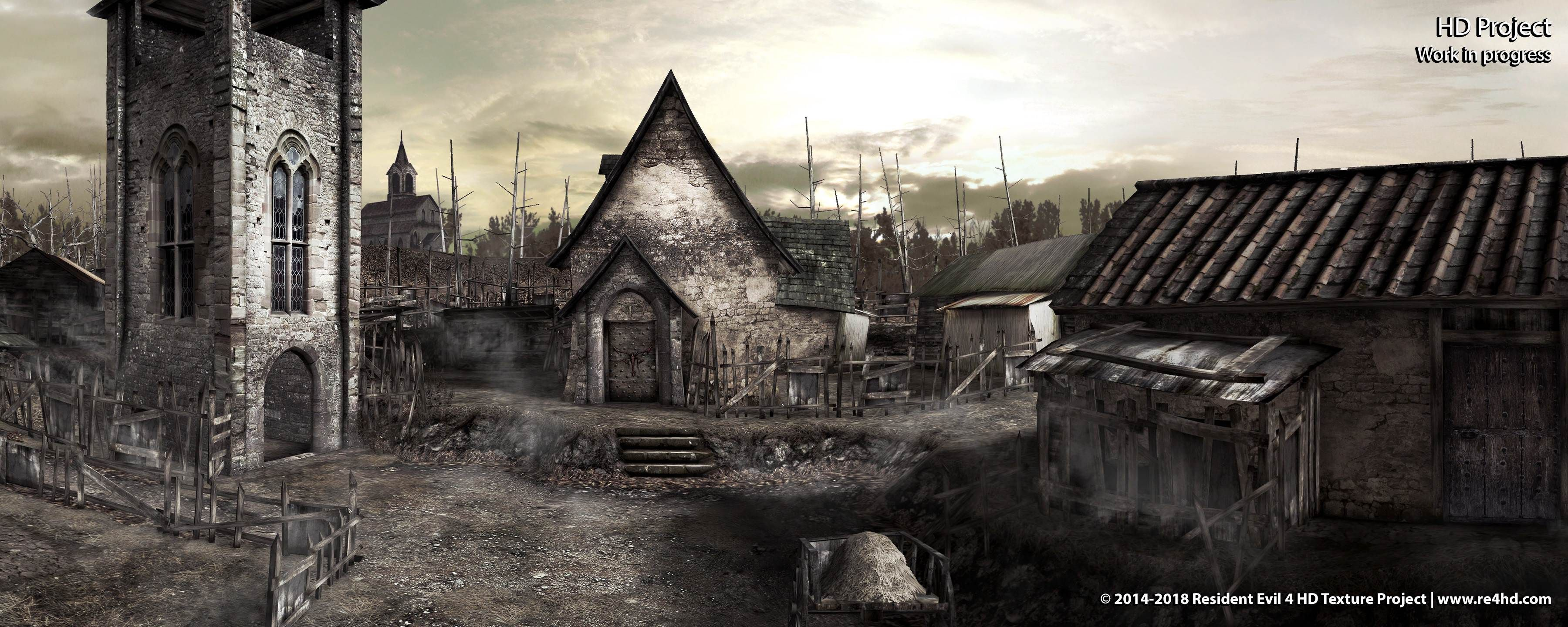Resident Evil 4 Hd Project Paisagem Fantasia Resident Evil Papel De Parede Celular
