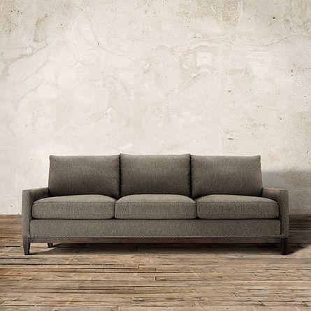 dante 89 upholstered sofa in wilson graphite current sale price rh pinterest com Arhaus Leather Recliners arhaus dante sofa reviews