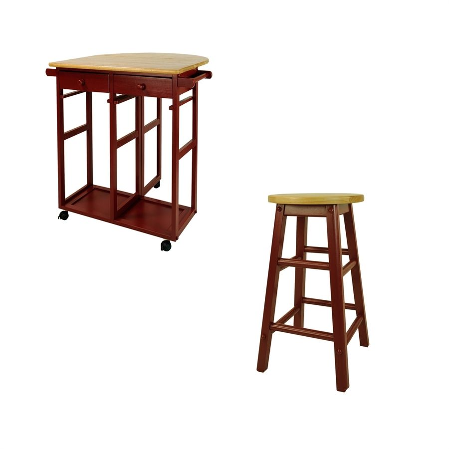 Best Casual Home Red Scandinavian Kitchen Islands With 2 Stools 640 x 480
