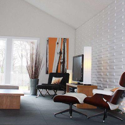 "Inhabit Seesaw Wall Flats 18' x 18"" Abstract 3D Embossed 10 Piece Panel Wallpaper & Reviews | Wayfair"