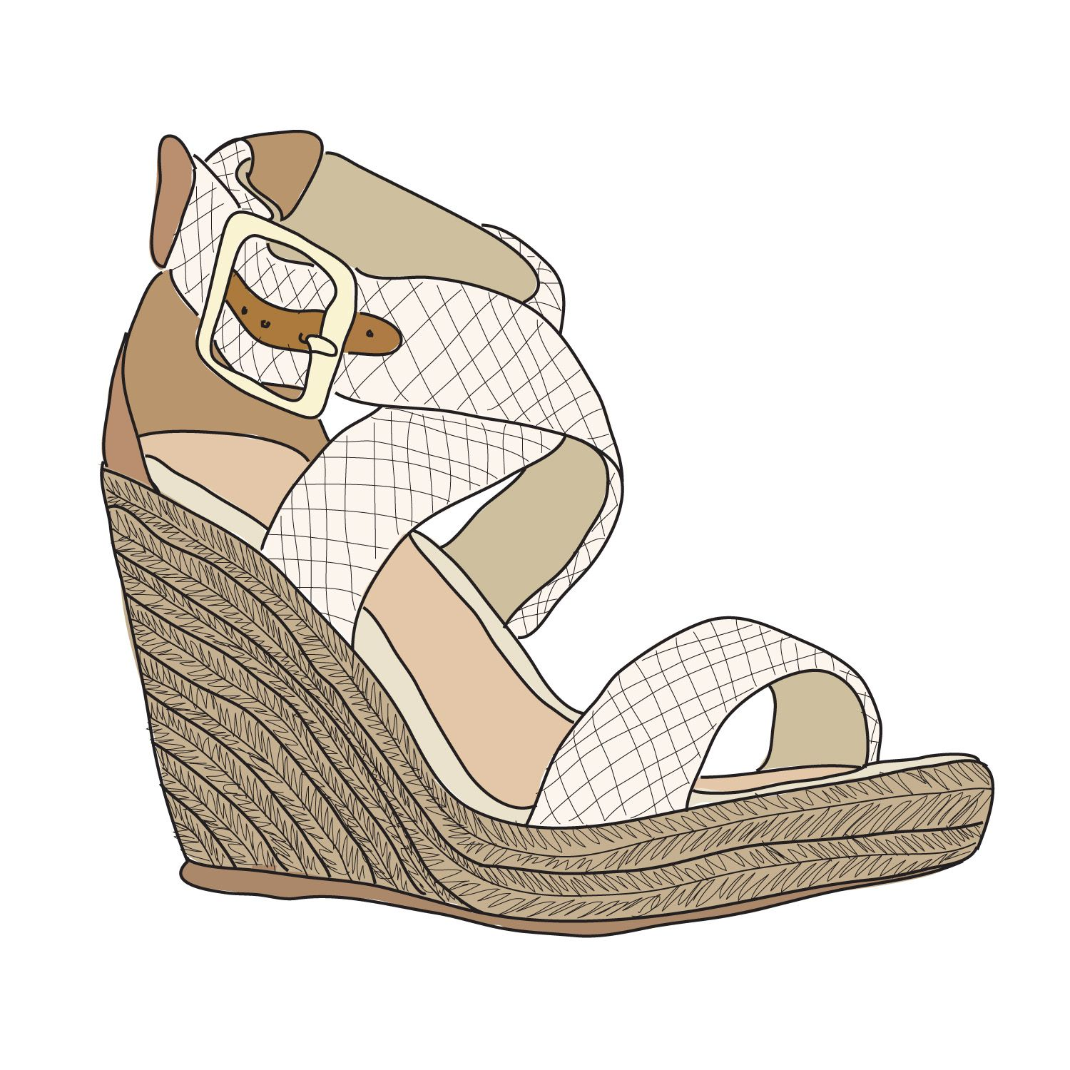 Did a doodle of my new wedges, still can't get over how comfortable they are for a 4 inch wedge (and that I can walk in them).