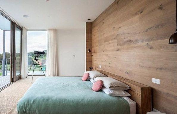 Habitación Pared Madera Clara Salones Modernos Pinterest