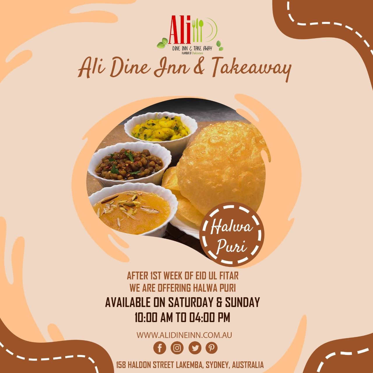 Make your weekend extra special with Halwa Puri by Ali Dine Inn & Takeaway Lakemba You have to reach Saturday and Sunday, Timings are 10 am to 4 pm in order to enjoy fresh Halwa Puri. #alidineinandtakeaway #halwapuri #Breakfast #lunch #halwa #desibreakfast #FoodPhoto #food #foodie #yummy #delicious #sydneylocals #sydneyeats #sydneyfoodies #sydneyhotels #foodlovers #foodstyling #foodblogger #sydneyfood #Sydney #muslimsinsydney #pakistanis #indiansinsydney #foodinsta #foodgram #sydneycatering