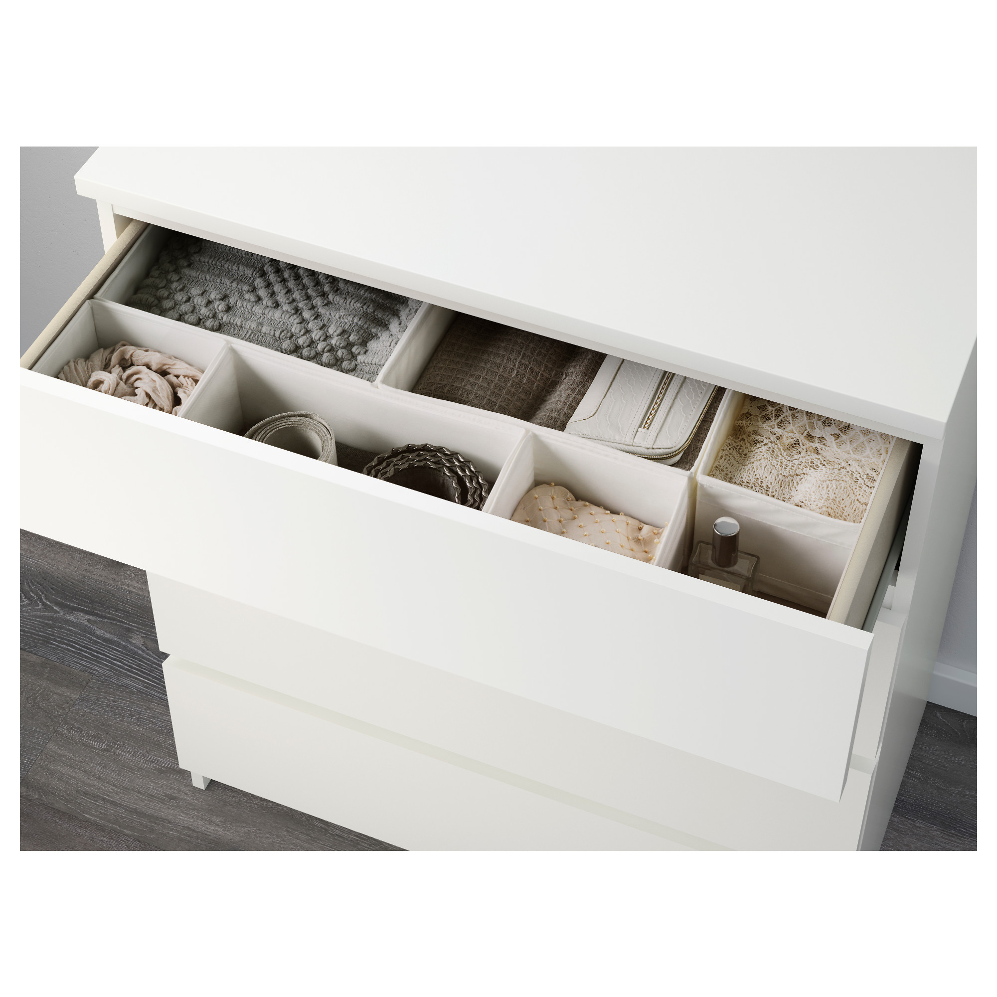Malm Chest Of 4 Drawers White 80 X 100 Cm Ikea 321