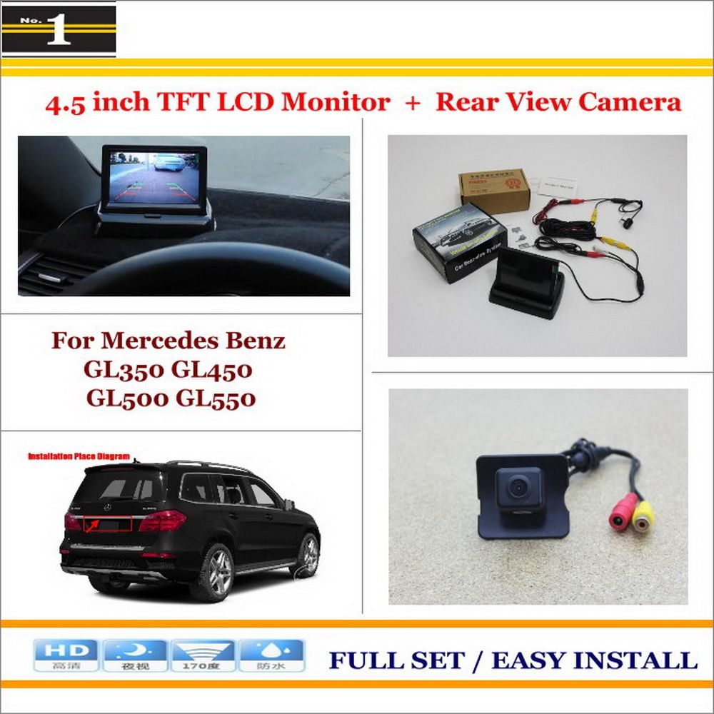 auto rear view camera back up 43 lcd monitor 2 in 1 parking