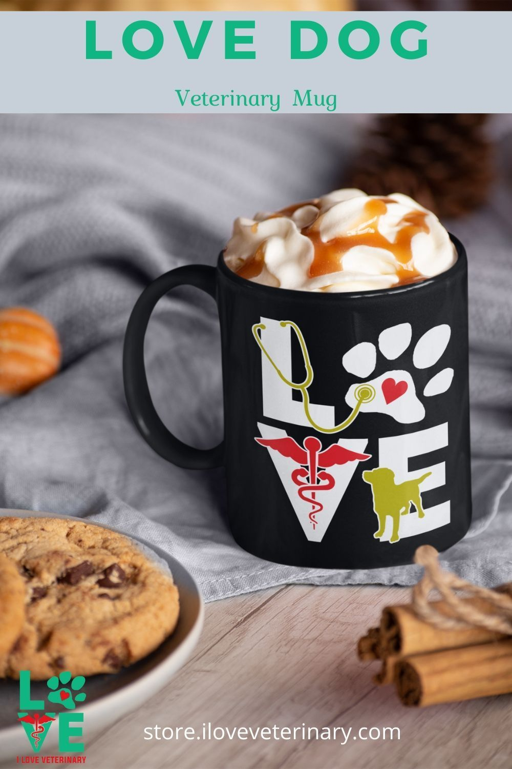 Love Dog Full Color Mug in 2020 (With images) Mugs