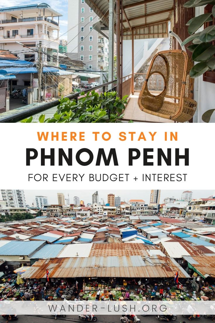 An expat's guide to the best Phnom Penh neighbourhoods and hotels/hostels/guesthouses across the city. #PhnomPenh #Cambodia | Where to stay in Phnom Penh | Best Phnom Penh hotels | Phnom Penh swimming pools
