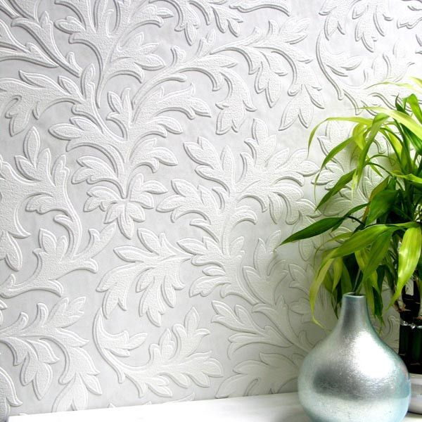 High Leaf Paintable Textured Wallpaper Design By Brewster Home... ($30) ❤