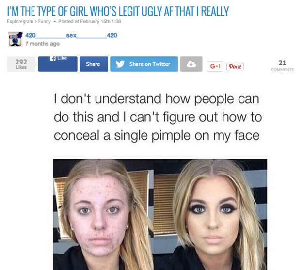 Woman Responds To Her Photo Being Turned Into A Terrible