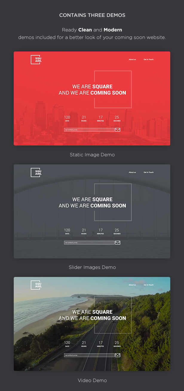 Square Creative Coming Soon Template V10 Download Theme