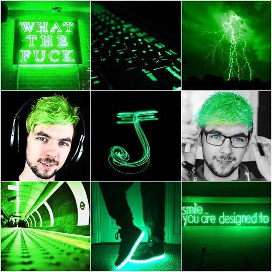 jacksepticeye neon green