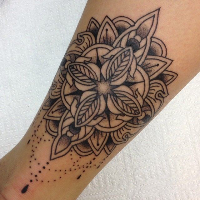 """a7317d4ff """"Back of ankle"""". """"Back of ankle"""" placement Ankle Tattoo Mandala ..."""
