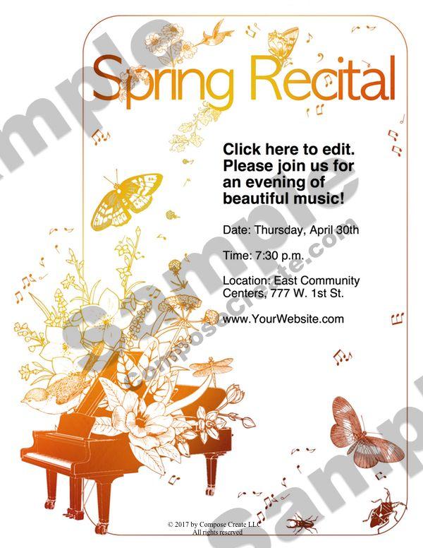 New Spring Recital Template Edit A Doc Pages Or Pdf Recital