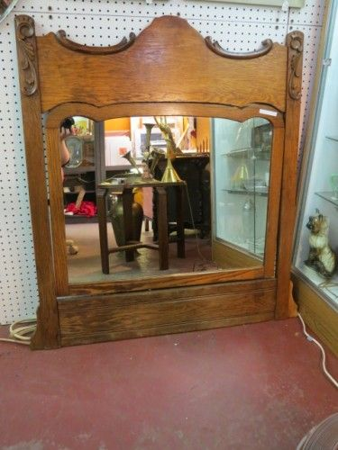 Vintage #mirror with large wooden frame | Mirrors | Pinterest ...