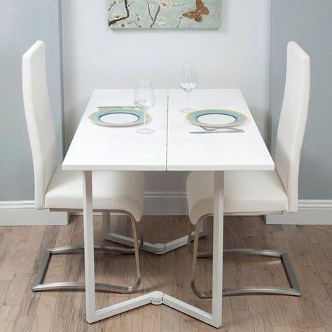 12 Diseños Cocinas con Mesas Plegables para Ahorrar Espacio Más