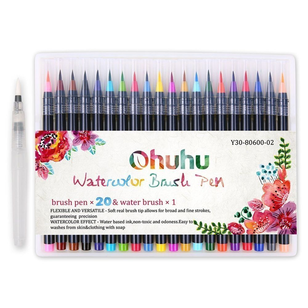 Watercolor Effect These Marker Brush Pens Can Create Beautiful