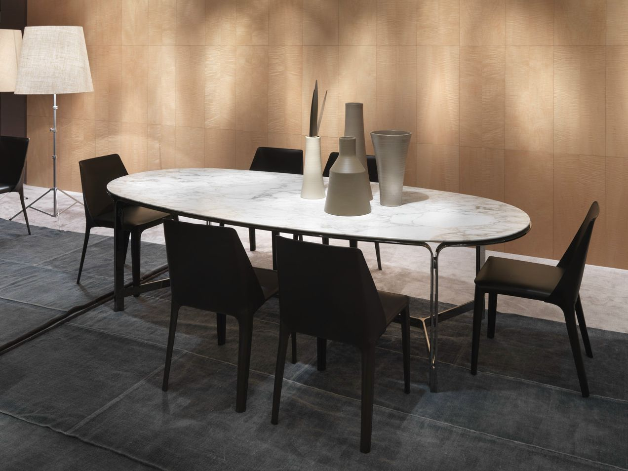 Oval marble dining table - Clarke Table By Flexform Design Carlo Colombo Oval Dining Tablesmarble Tablesdining