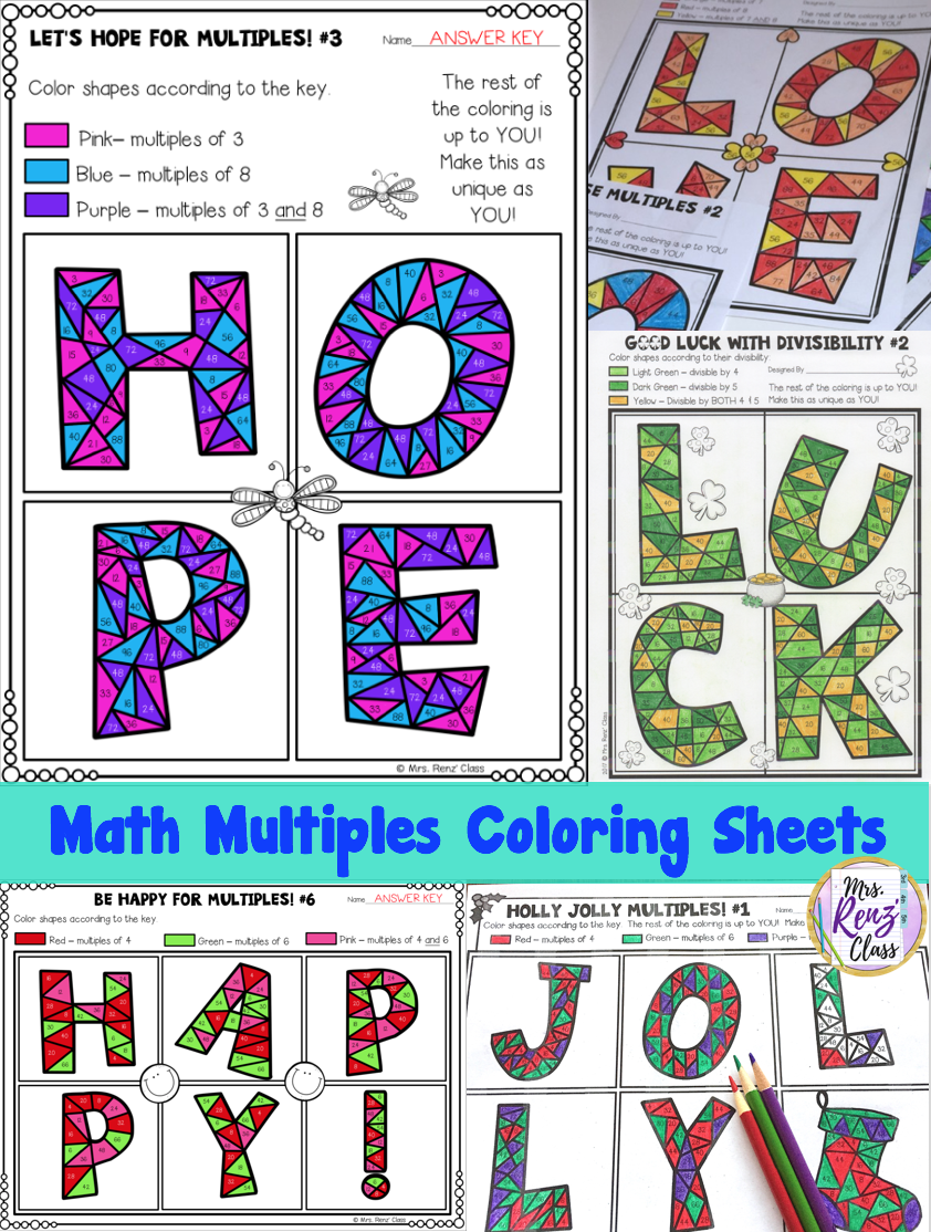 Hints to challenge Fast Finishers using coloring! Mrs. Renz Class ...