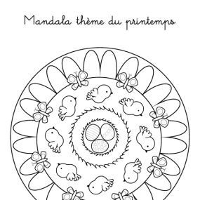 Coloriage Mandala Maternelle A Imprimer Gratuit.Seance Printemps Coloriage A Imprimer Mandala Du