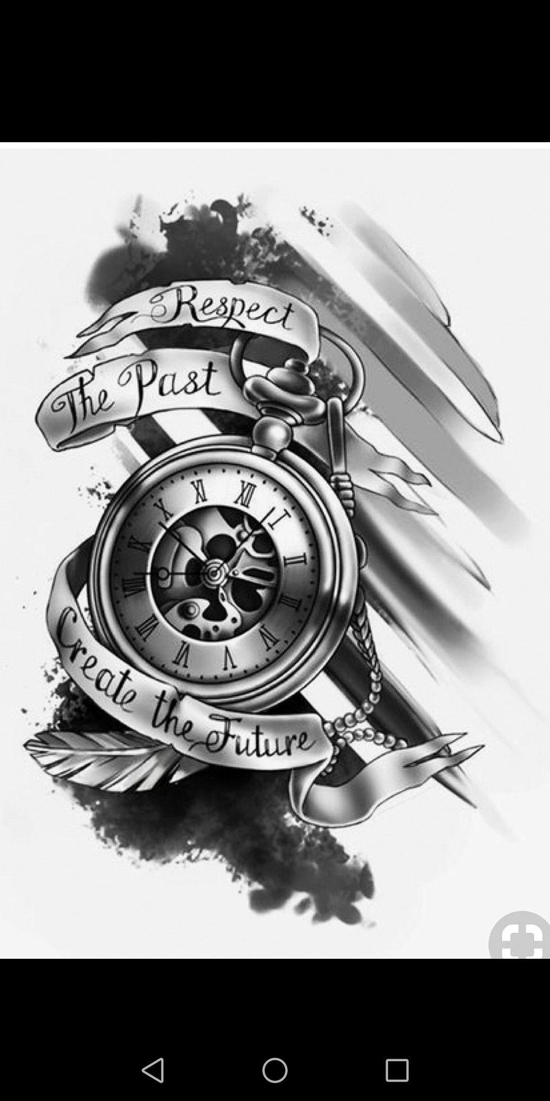 Clock Tattoo Drawing Design Valoblogi Com