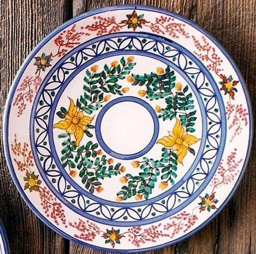 Platos decorativos de barro natural esmaltados platos - Platos decorativos pared ...