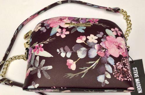 713830f8734 STEVE MADDEN Handbag BMarilyn Printed CROSSBODY Floral PURSE NWT MSRP $68.00