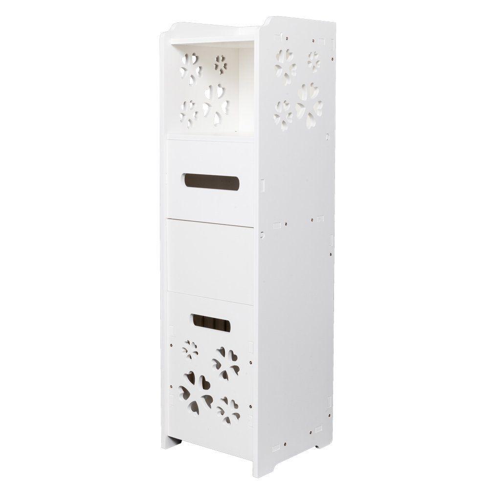 DESIGNSCAPE3D Premium Waterproof Bathroom Cabinet of Single Door White