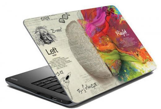Indiancarft Brain Laptop Skin Notebook Sticker Cover Art Decal Fits 14 1 To 15 6 Dimensions W X H 15 Inches 10