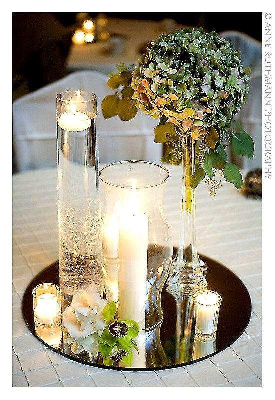 Candle Centrepieces Mirror Centerpiece Wedding Centerpieces