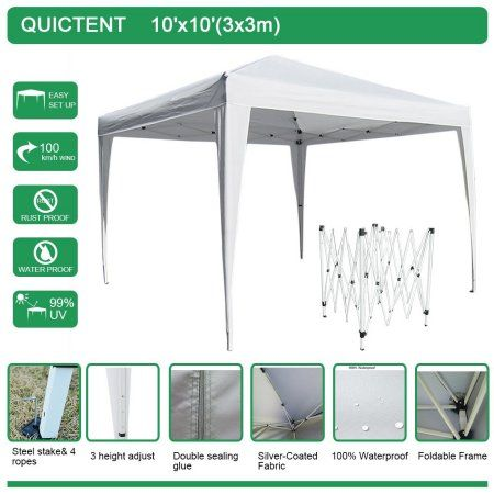 Quictent Easy Pop Up Tent Instant Canopy 10x10  sc 1 st  Pinterest & Free Shipping. Buy Big Sale!!Quictent Easy Pop Up Tent Instant ...