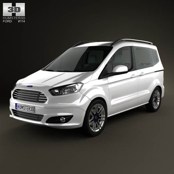 3d Model Of Ford Tourneo Courier 2013 Car 3d Model Ford 3d Model