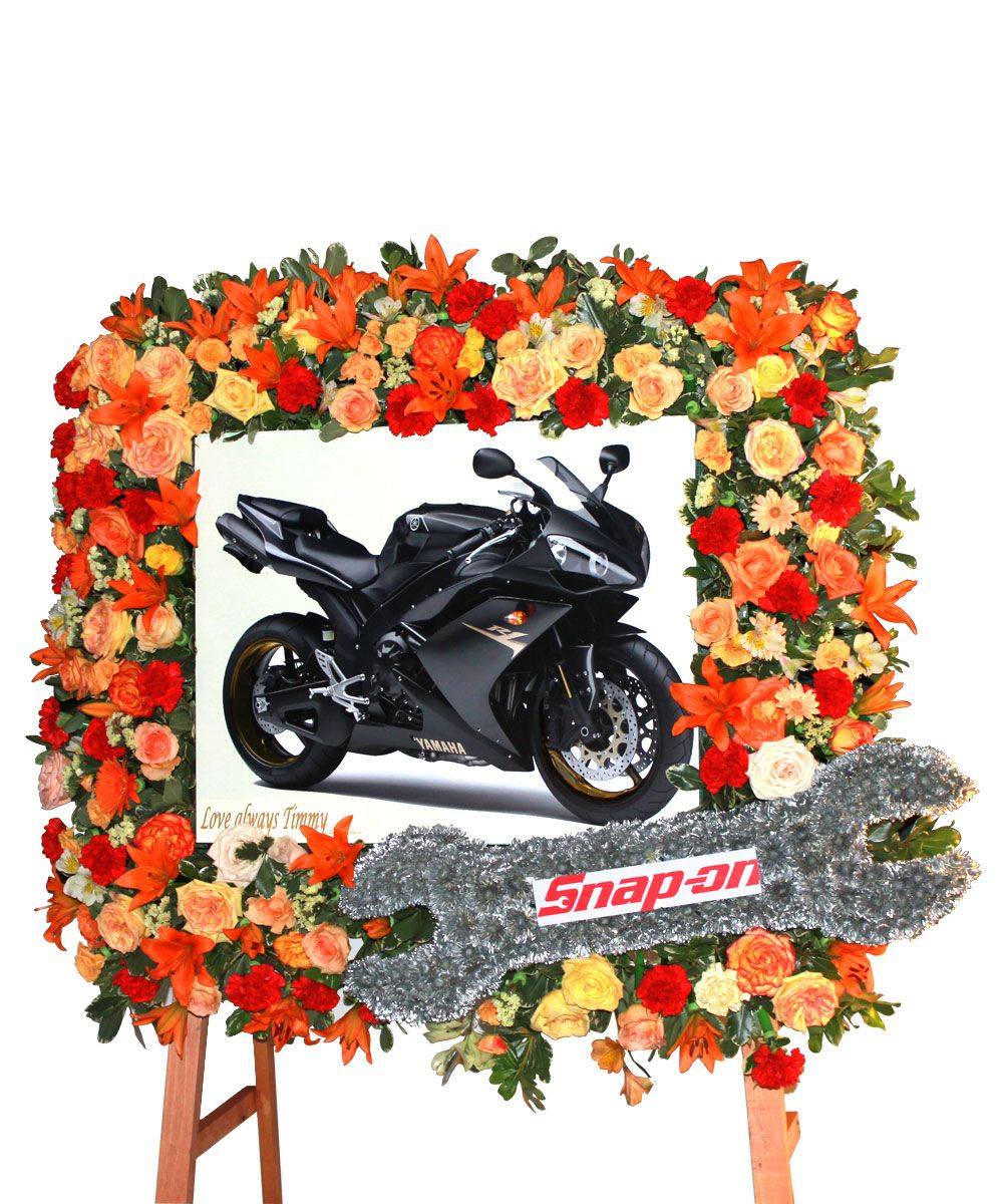 Commemorate Your Loved One With This Beautiful Floral Frame Funeral Floral Memorial Flowers Sympathy Flowers
