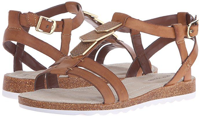 Amazon.com | Hush Puppies Women's Bretta Jade Gladiator Sandal, Off White Leather, 5.5 M US | Sandals