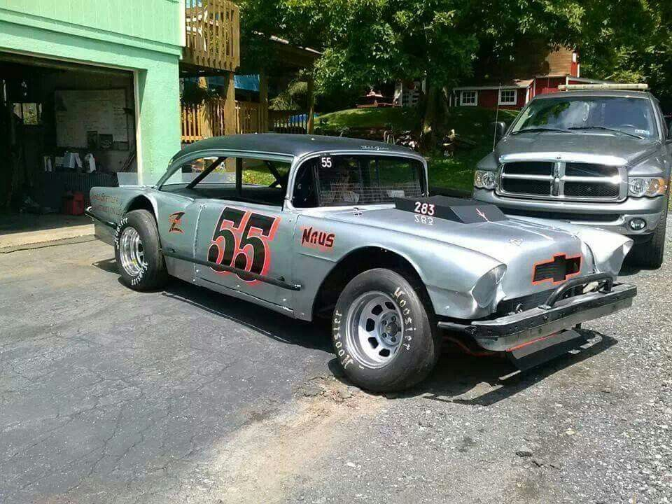 55 Chevy Vintage Stock Car Classic Cars Trucks Hot Rods Stock