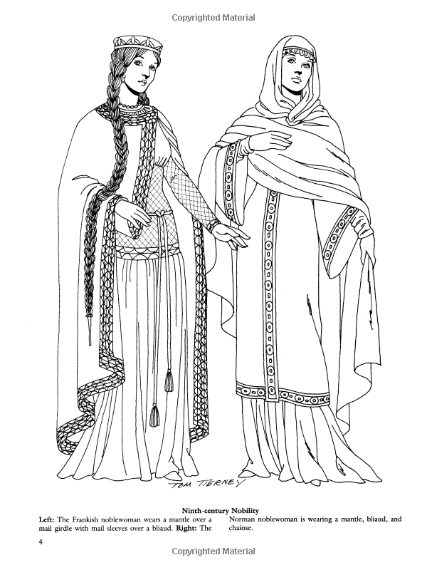 Medieval Fashions Coloring Book (Dover Fashion Coloring Book): Tom ...