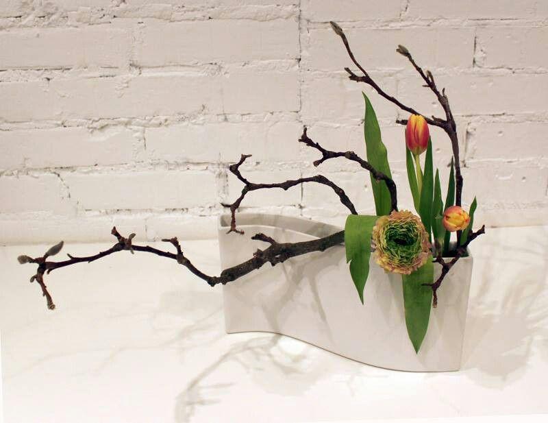 minimale schikking in klein smal recip nt ikebana pinterest blumendeko blumen kunst und. Black Bedroom Furniture Sets. Home Design Ideas