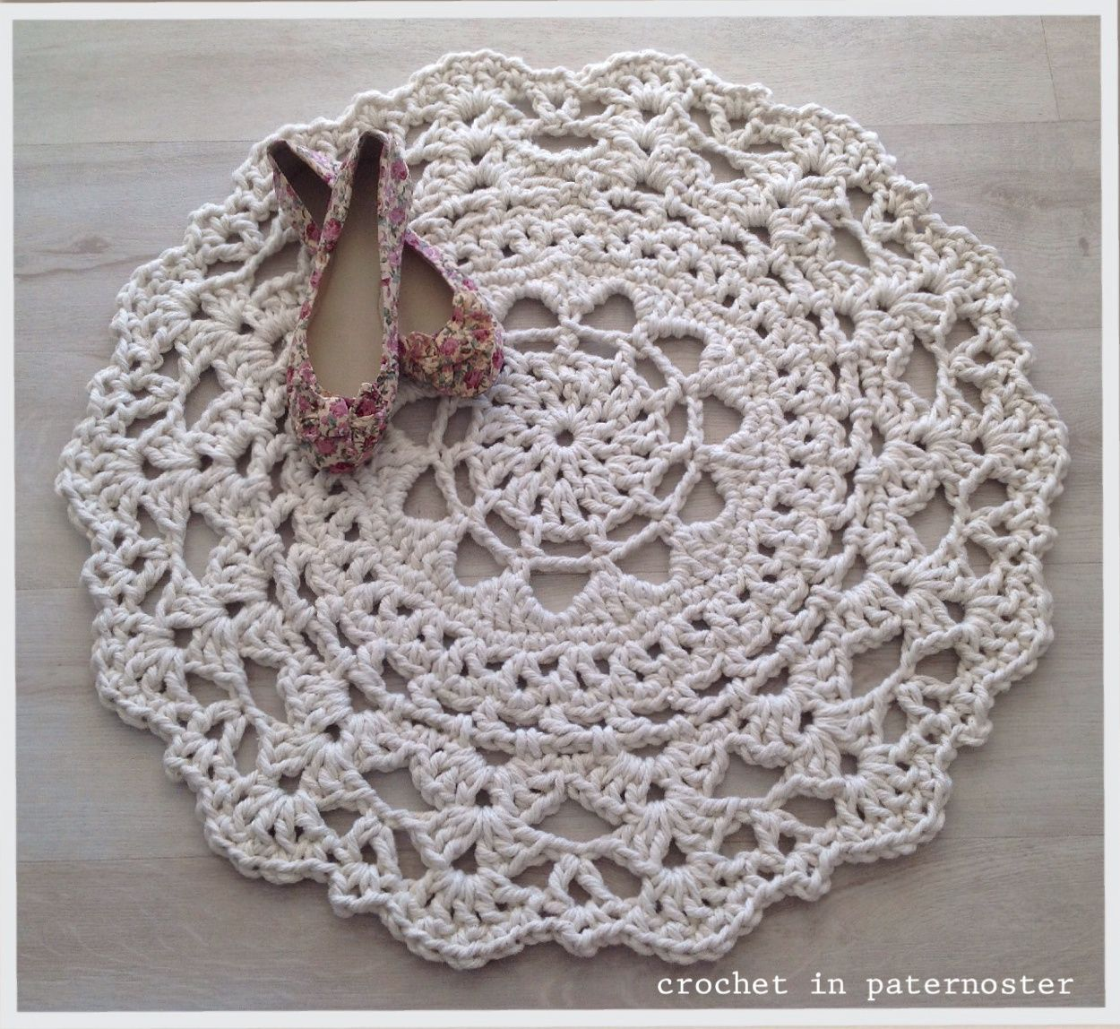 Crochet Doily Rugs With T Shirt Yarn In Paternoster