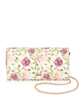 28ea5704a58 Boudoir Watersnake Fiori Wallet on a Chain by Christian Louboutin at ...