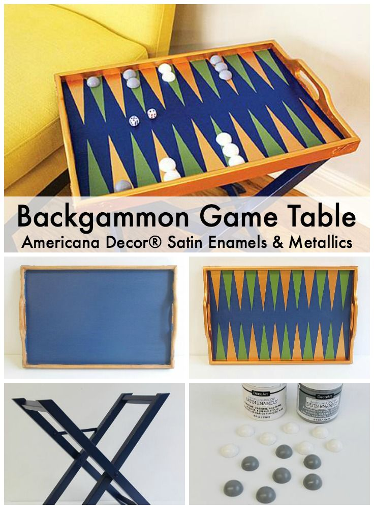 Upcycle a tray and stand into a fun board game decoart upcycle a tray and stand into a fun board game decoart backgammon publicscrutiny Choice Image