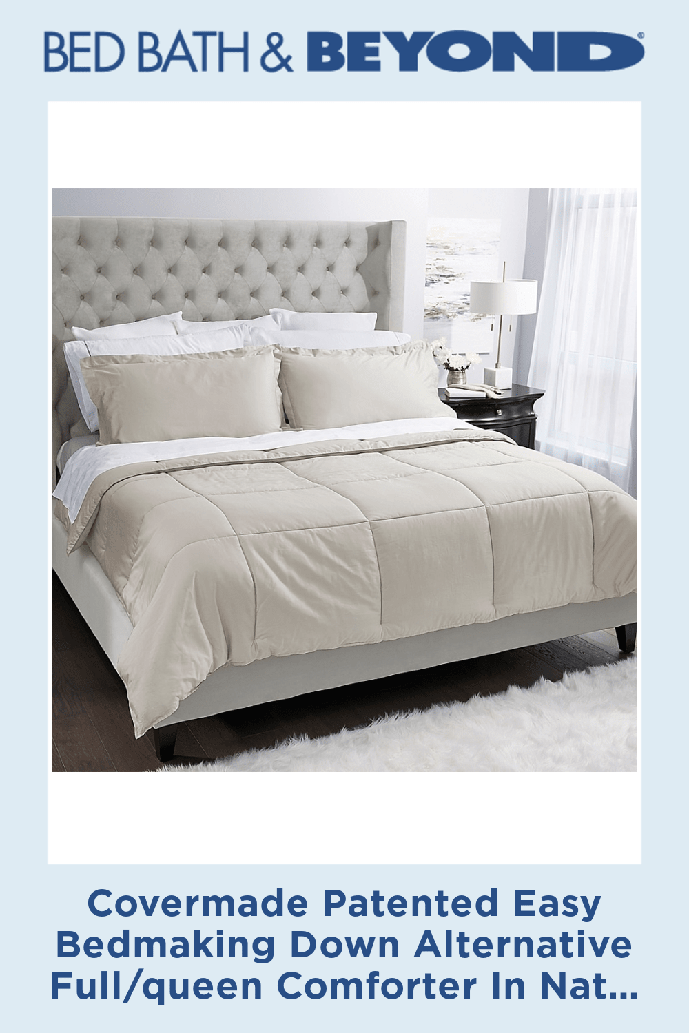 Photo of Covermade Patented Easy Bedmaking Down Alternative Full/queen Comforter In Natural
